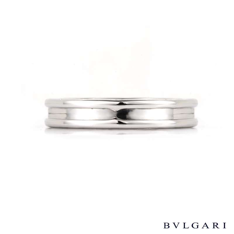 Bvlgari 18k white gold B.zero1 Ring Size 65 AN852423